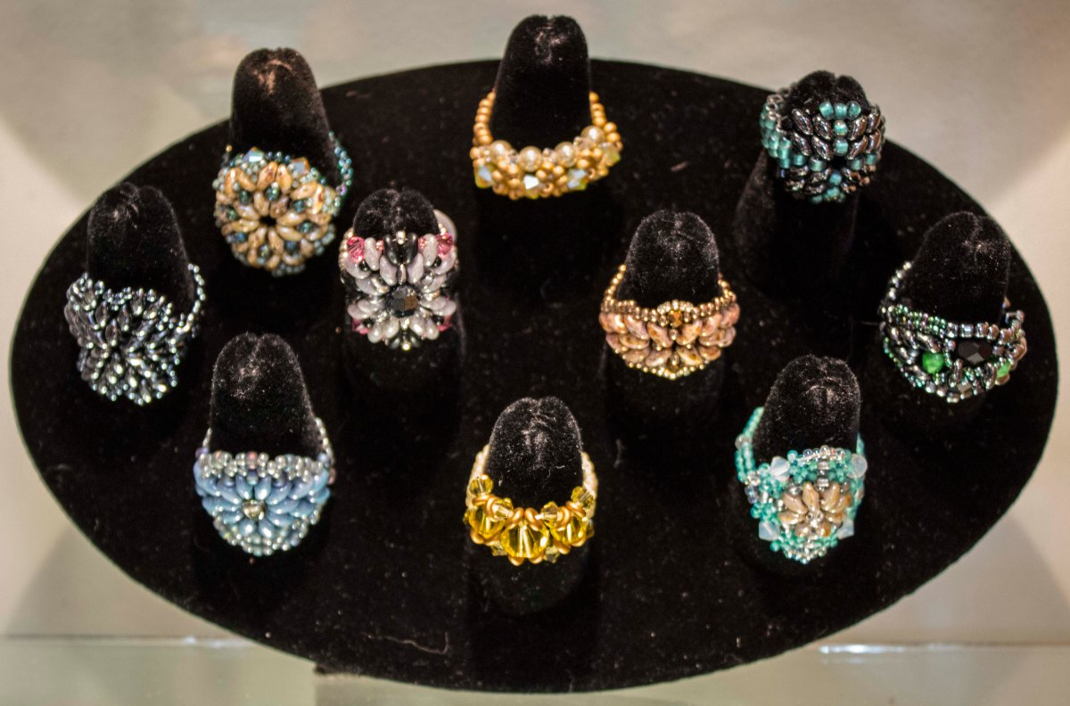 Beading Away - Rings by Alicia Grebe