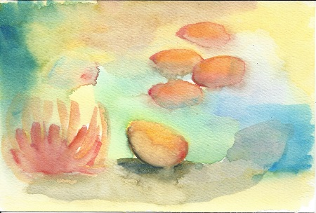 Abstract, James P. Morris, Watercolor On Arches, Postcard #101, $TBD