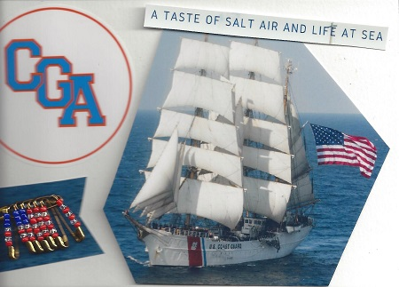 CGA - A Taste Of Salt Air And Life At Sea, Virginia Lewis, Photo Collage on Rag Mat, Postcard #87, $TBD