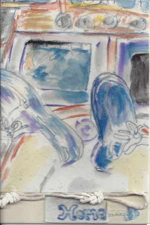 Home, Diane Pantanello, Watercolor On Rag Mat, Postcard #40, $TBD