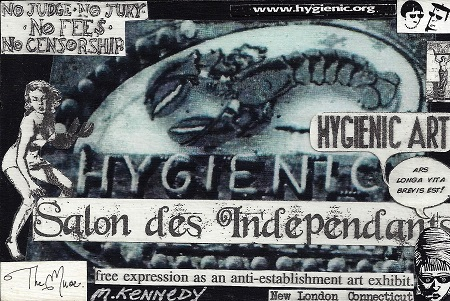 Hygienic Art - Salon des Independants - New London, Connecticut, Maurene Kennedy, Collage Found New London Ephemera on Rag Mat, Postcard #85, $TBD