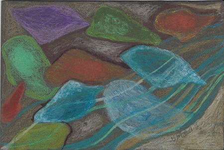New London Sea Glass, Gretchen van der Lyke, Colored Pencil on Rag Mat, Postcard #61, $TBD