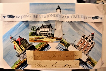 Three Sisters of the NLMS, Maurene Kennedy, Assemblage, Postcard #126, $TBD - Copy - Copy