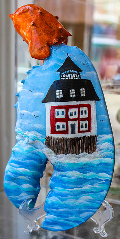 Hand Painted Large Lobster Claw by Cottage Crafts - Local Artist Barbara Johnston