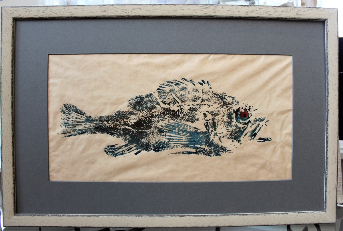 Fish Print- After