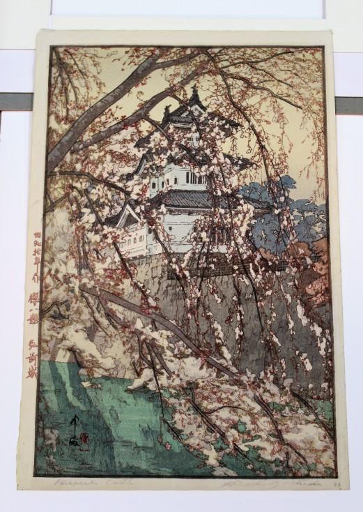 Hirosaki Castle, Hiroshi Yoshida 1876-1950, Kurume, Japan, Based in Tokyo, From A Series: Eight Scenes of Cherry Blossoms - Sakura Hachidai