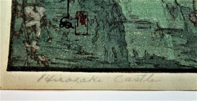 Hirosaki Castle Title Romanized In Pencil Script