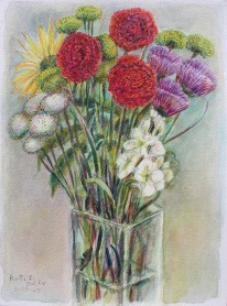 Floral Sunshine, Ruth Sussler, Watercolor, 12x16, $165