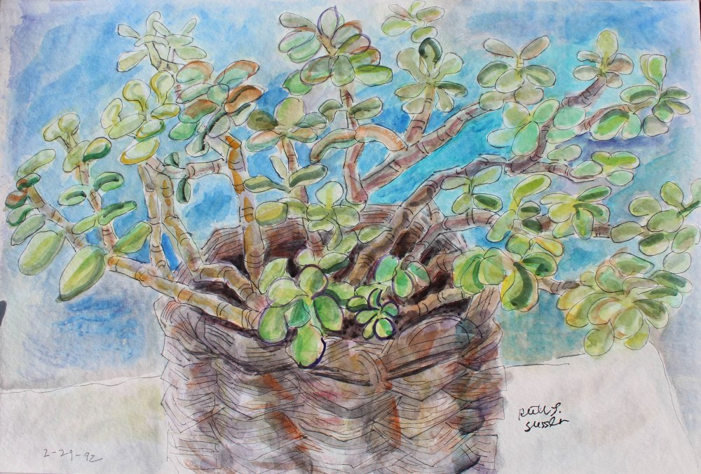 Jade, Ruth Sussler, Watercolor, 20x16, $235