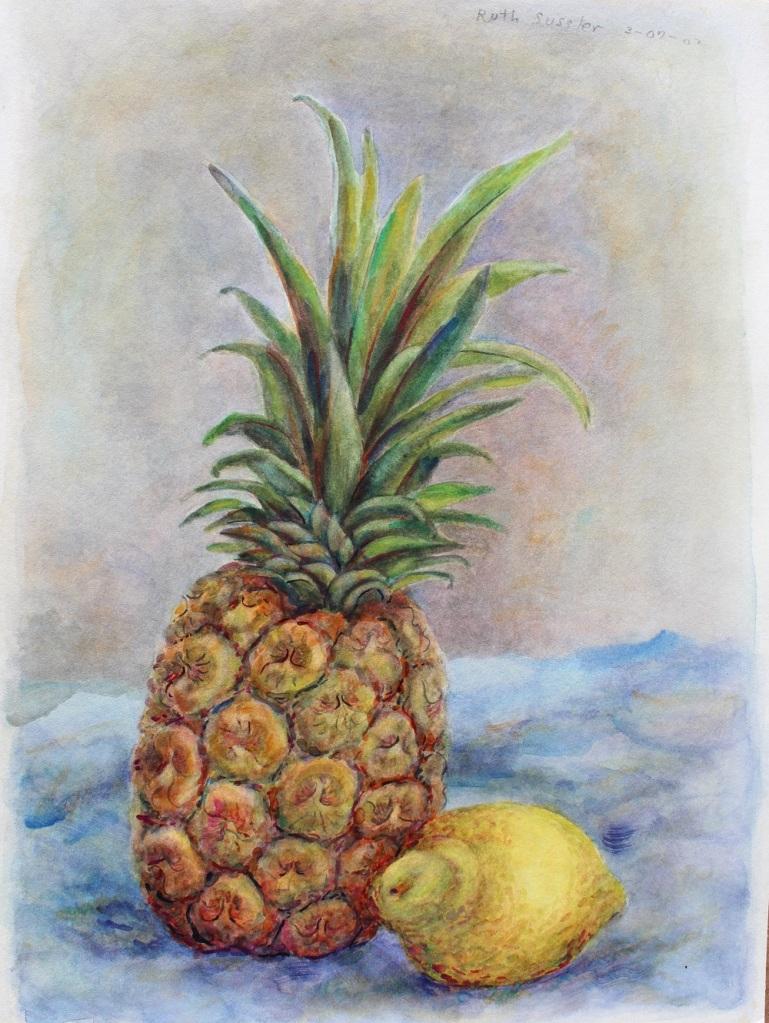 Pineapple & Lemon, Ruth Sussler, Watercolor, 14x18, $195