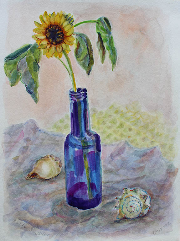 Sunflower, Ruth Sussler, Watercolor, 14x18, $195