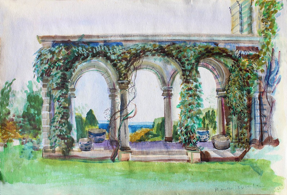 Harkness Arches, Ruth Sussler, Watercolor, 20x16, $235