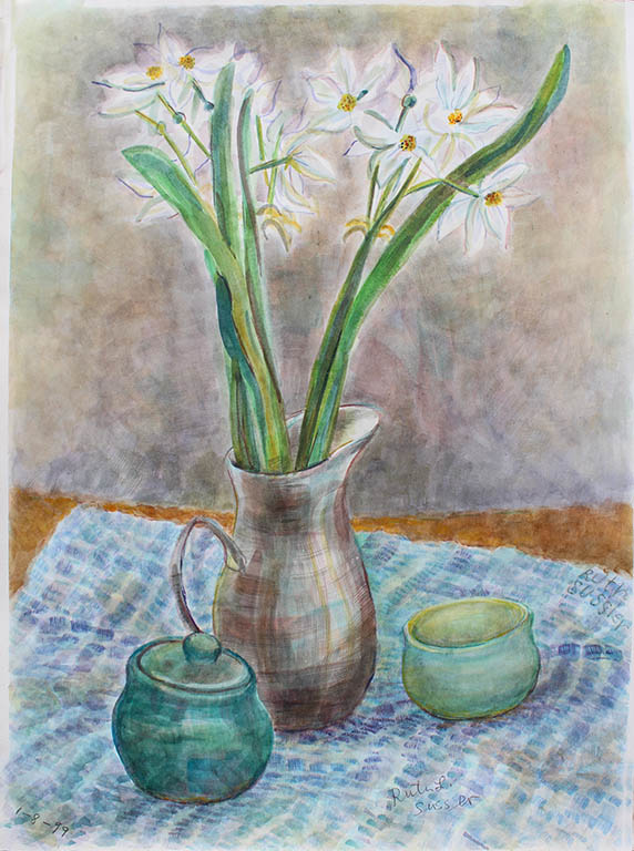 Fragrant Narcisus, Ruth Sussler, Watercolor, $195