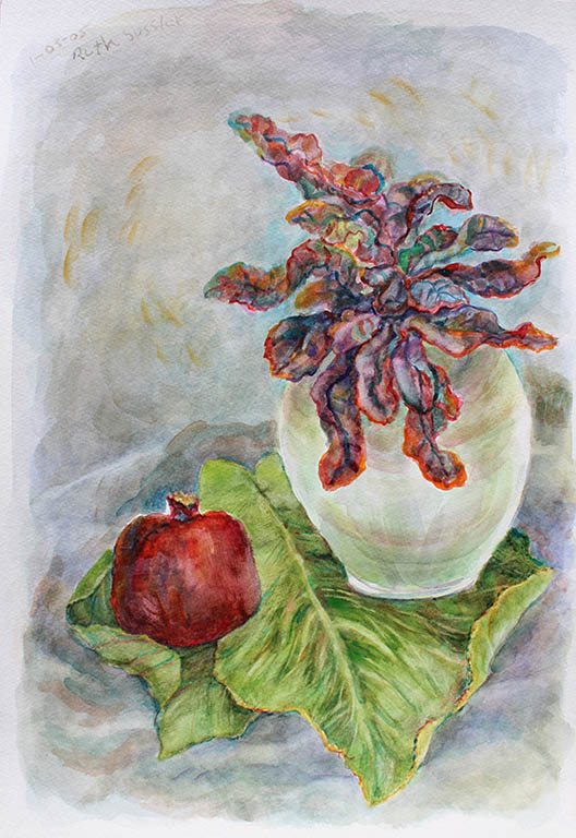 Pomegranate, Ruth Sussler, Watercolor, 16x20, $235
