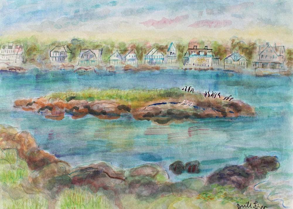 Pequot Avenue, Ruth Sussler, Watercolor, 20x16, $235