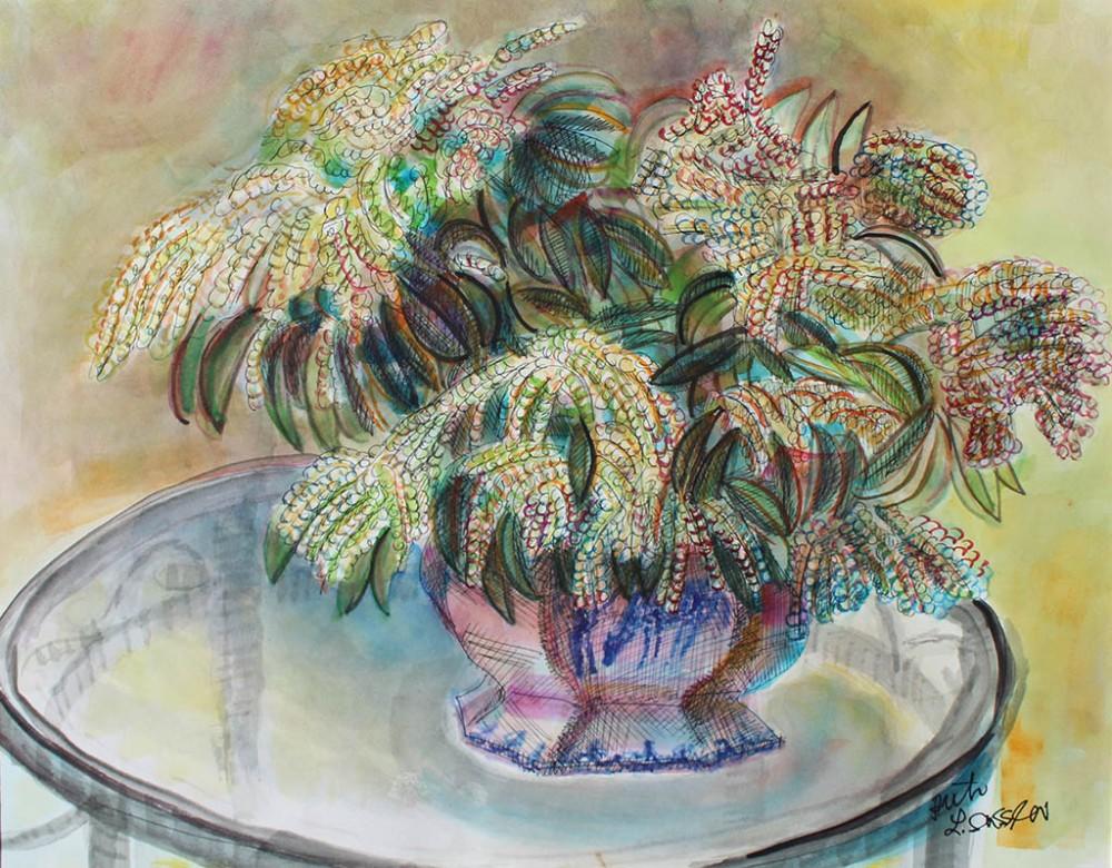 Andromeda, Ruth Sussler, Watercolor, 18x14, $195
