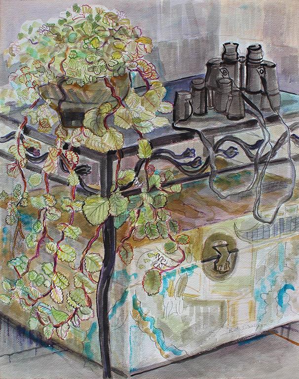 Interior Still Life, Ruth Sussler, Watercolor, 20x24, $300