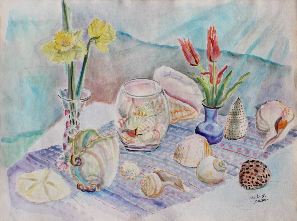 Shell Collection, Ruth Sussler, Watercolor, 30x24, $375