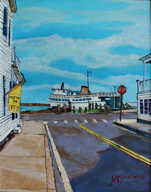 Chapel St. Block Island, Gigi Mezzo Genovese, Acrylic, 8x10, $300