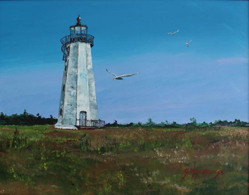 Faulkner Light Guilford, Gigi Mezzo Genovese, Acrylic, 14x11, $400