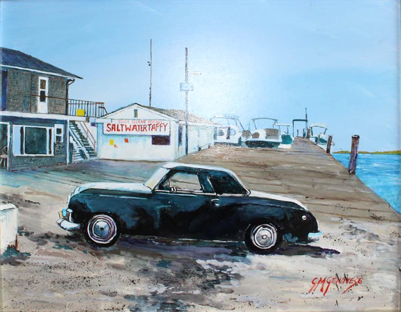 Franks Memories B.I., Gigi Mezzo Genovese, Acrylic, 14x11, $350