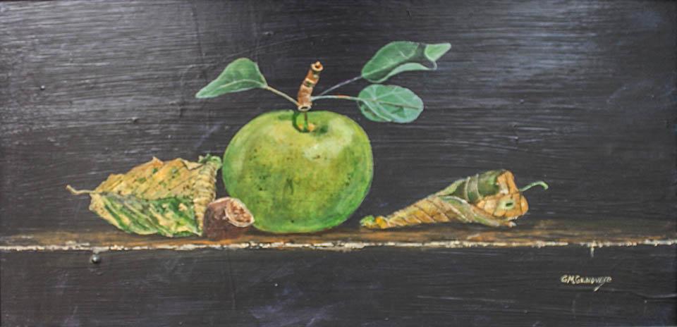 Green Apple, Gigi Mezzo Genovese, Acrylic, 24x12, $550