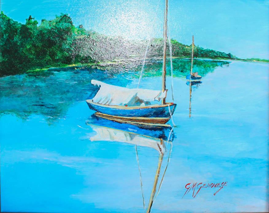 A Moment Of Calm, Gigi Mezzo Genovese, Acrylic, 10x8, $300