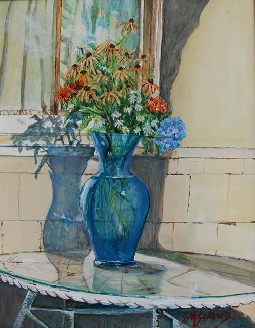 Porch Life In Summer, Gigi Mezzo Genovese, Acrylic, 11x14, $400