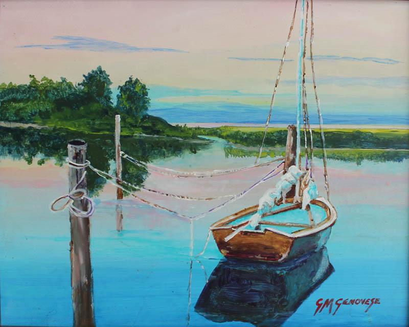 Sail In The Cover, Gigi Mezzo Genovese, Acrylic, 10x8, $300