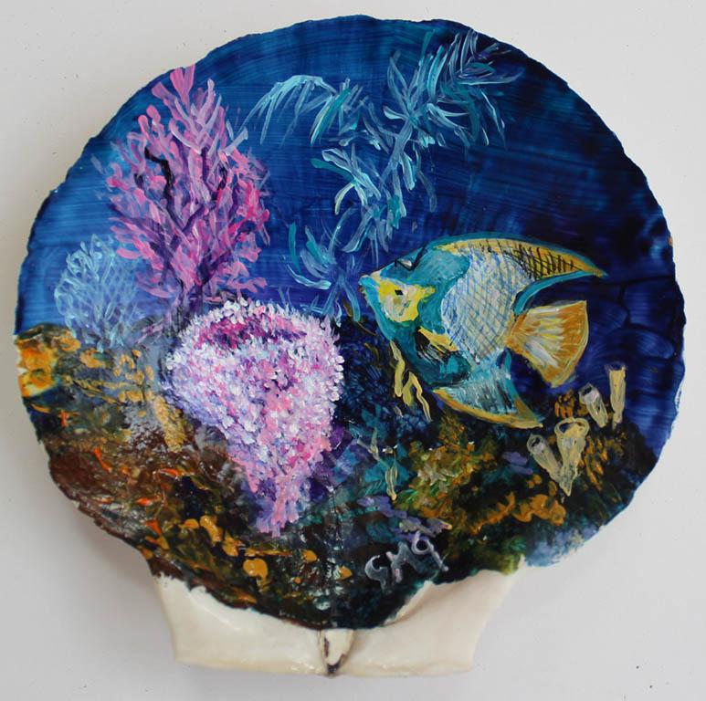 Gigi M. Genovese Hand Painted Shells $35.