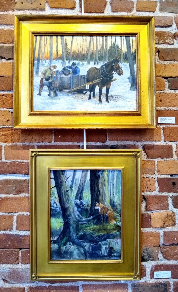 vintage oil paintings in goldframes