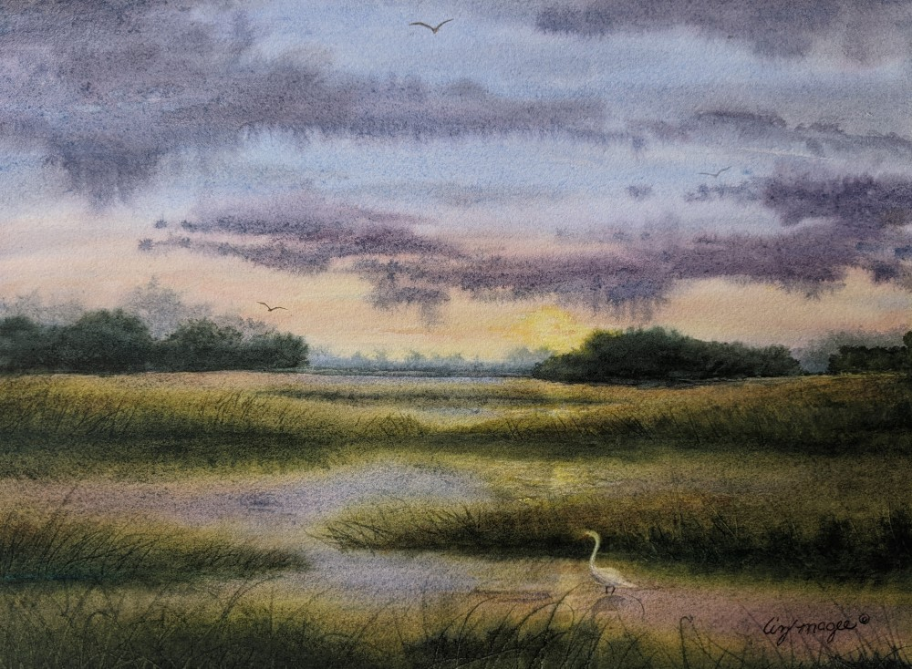 Liz McGee The Estuary, Watercolor, 11x14, $475
