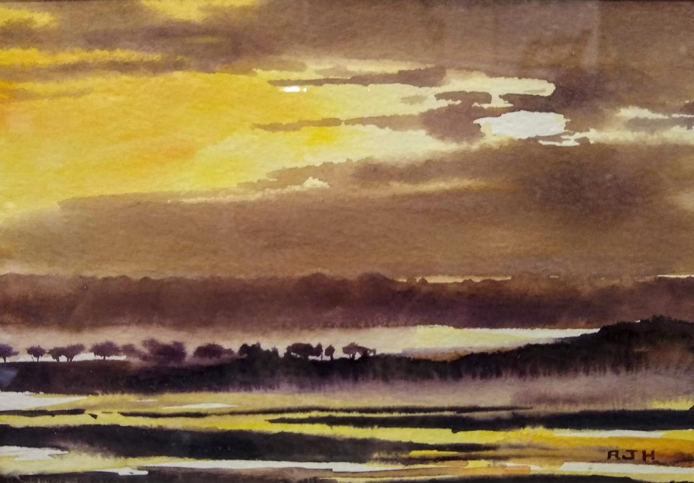 Sunset Skies, Robert Hauschild, Watercolor, 8x10, $175