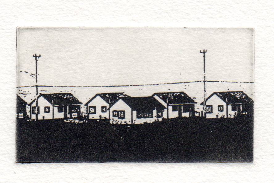 Truro Cape Cod, Carol Dunn, Photo Polymer Etching, 8x7, $125