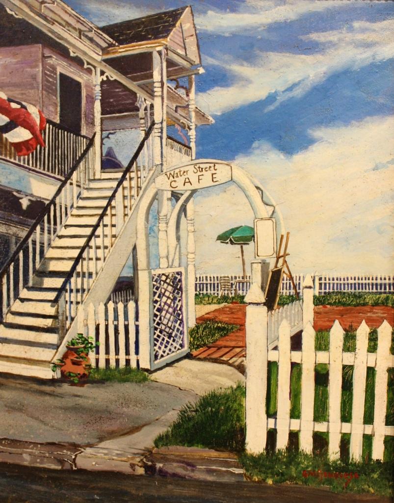 Water Street Cafe Block Island, Gigi Mezzo Genovese, Acrylic, 11x14, $400