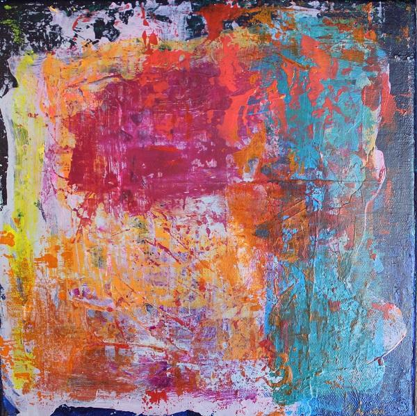 Abstract, Matty P., Acrylic, 10x10, $120