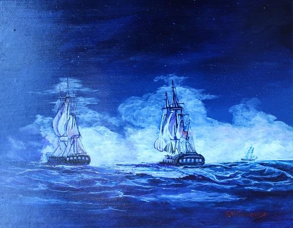 Battle Of The Constitution, Gigi Mezzo Genovese, Acrylic, 16x12, $400