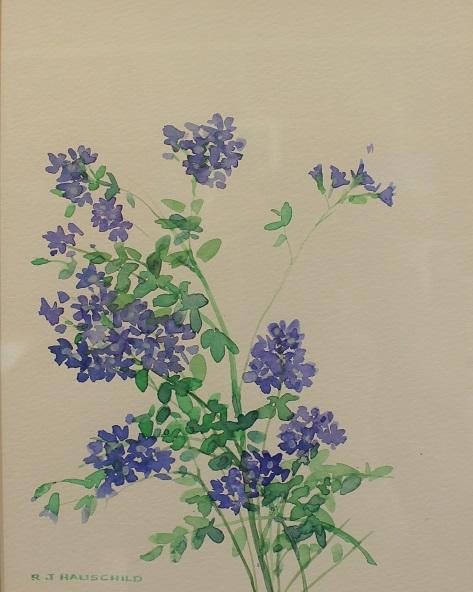 Bluettes, Robert J. Hauschild, Watercolor, 12x16, $195