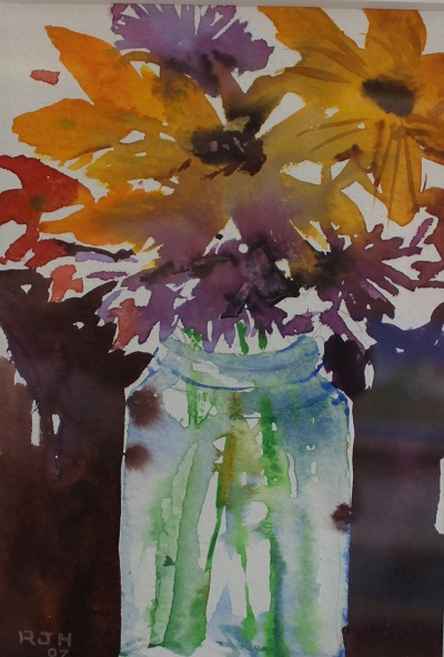 Country Bouquet, Robert J. Hauschild, Watercolor, 10x12, $85