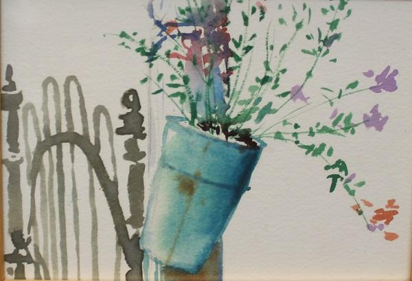 Garden Country Bouquet, Robert J. Hauschild, Watercolor, 7x5, $75