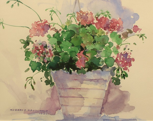 Dianthus, Robert J. Hauschild, Watercolor, 12x15, $195