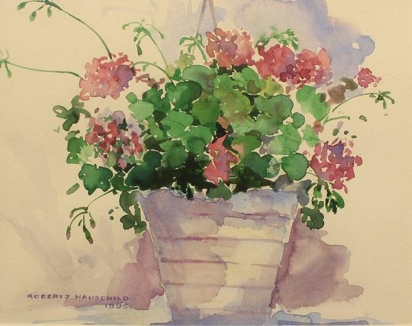 Dianthus, Robert J. Hauschild, Watercolor, 12x15, $195