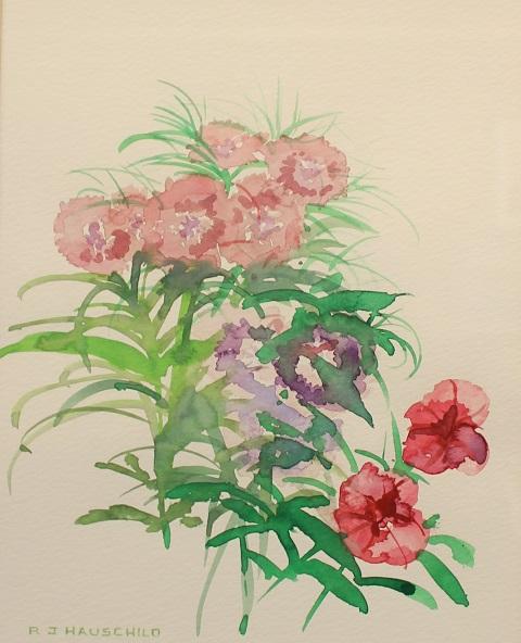 Fresh Faces, Robert J. Hauschild, Watercolor, 15x12, $195