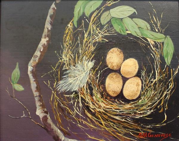 Nesting, Gigi Mezzo Genovese, Acrylic, 14x12, $300