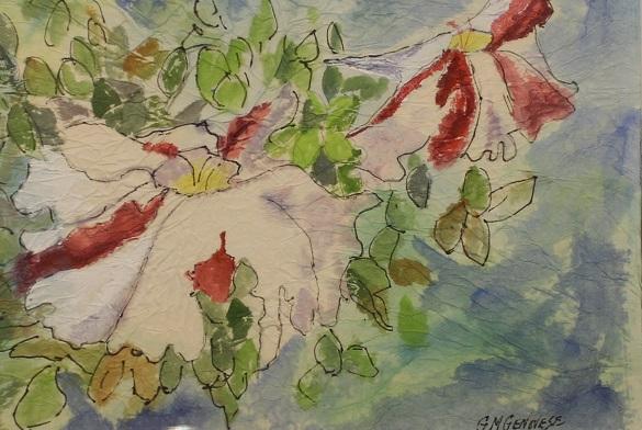 Petunias, Gigi Mezzo Genovese, Acrylic, 12x10, $150