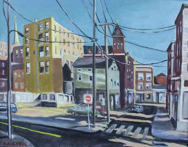Green Street New London, Neil Ruenzel, Oil, 22x18, $475
