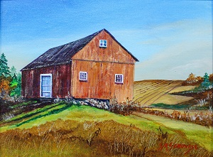 Stonington Barn, Gigi Mezzo Genovese, Acrylic, 15x12, $300