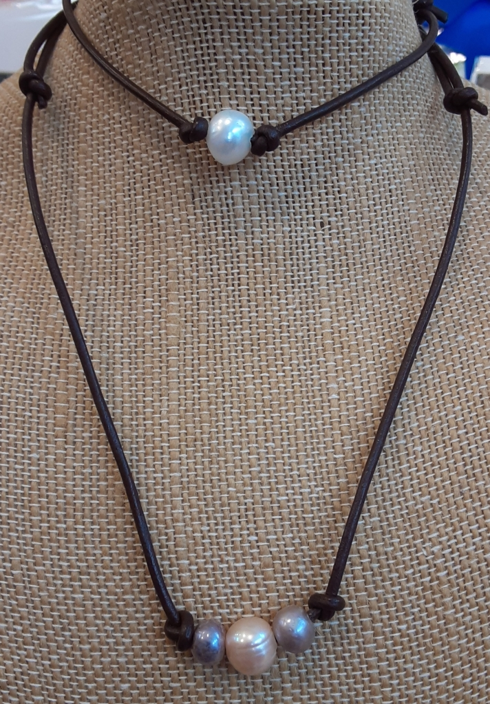 Handcrafted Leather & Freshwater Pearl Jewelry
