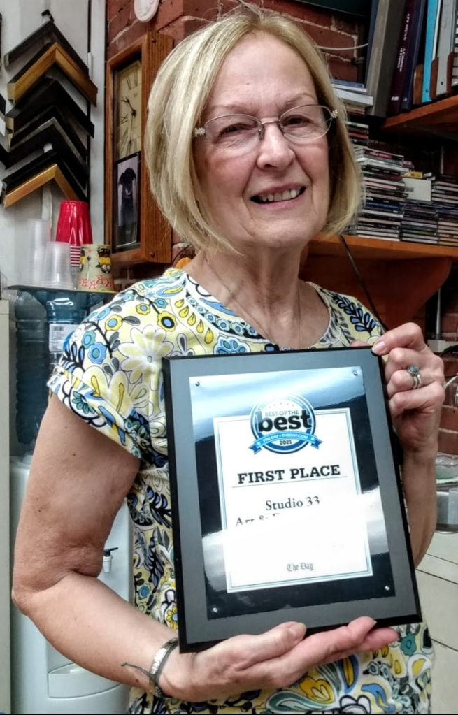Sara Munro of Studio 33 Art & Frame Gallery wins The Day's 7th Annual Best of Readers' Choice Awards for Picture Framing